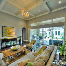 Contemporary Family Room by K. Miller Interiors