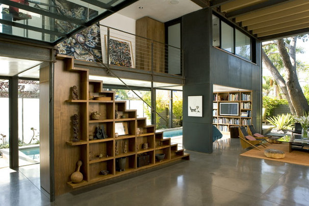 Industrial Living Room by Ehrlich Architects