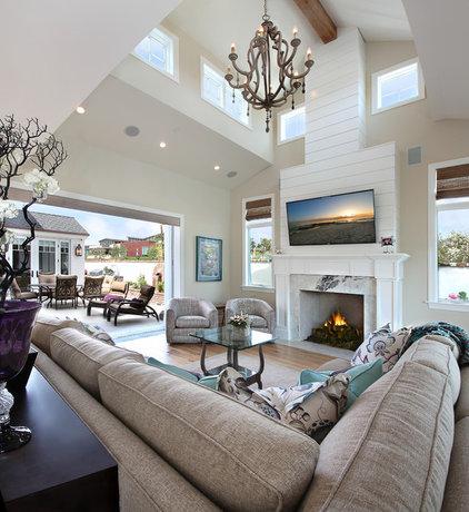 Beach Style Living Room by Jeri Koegel Photography