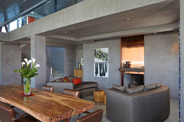 Modern Living Room by David Hertz & Studio of Environmental Architecture