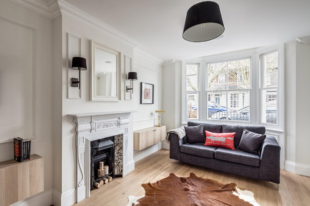 Houzz tour a west london victorian terrace is totally for Small terraced house living room ideas