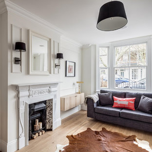 Example of a danish living room design in London