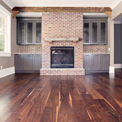 "8"" Character Black Walnut - 8"" wide Black Walnut Plank Wood Flooring. Solid 3/4"" thick with lengths from 6-10'. Photo by Tracy Cox Photography"