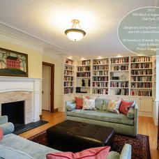 Traditional Living Room by Amanda Miller Design Studio