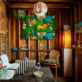 Kleines Kolonialstil Wohnzimmer in Chicago
