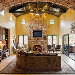 Austin stone fireplace living room design ideas pictures for Austin stone fireplace