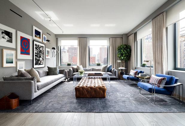 Eine Farbkombi – 6 Styles: Wohnzimmer In Blau, Grau Und Weiß
