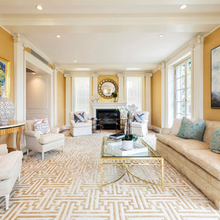 75 Beautiful Living Room With Yellow Walls Pictures Ideas September 2020 Houzz