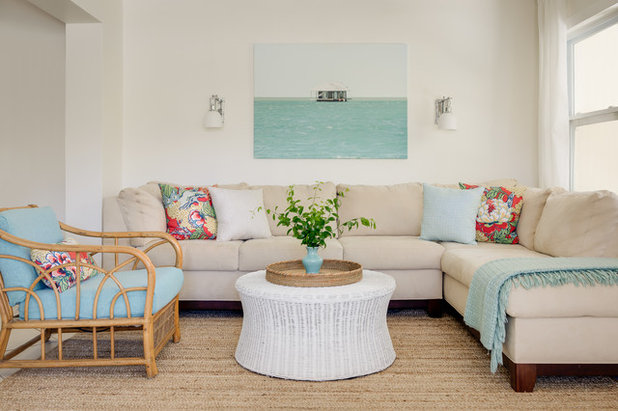 Beach Style Living Room by Modern Cottage Collective Design Studio