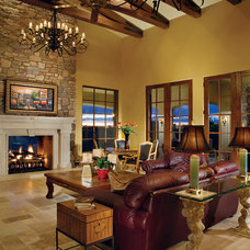 Traditional Living Room by Elite Builders of Colorado