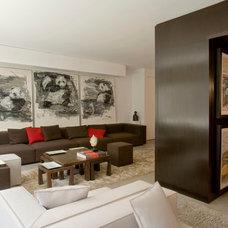 Contemporary Living Room by Diane Burgio Design
