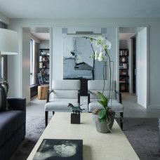 Contemporary Living Room by jamesthomas, LLC