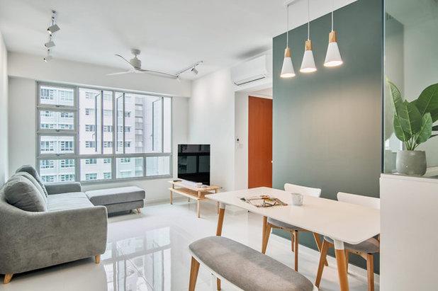 Scandinavian Living Room by DB Studio