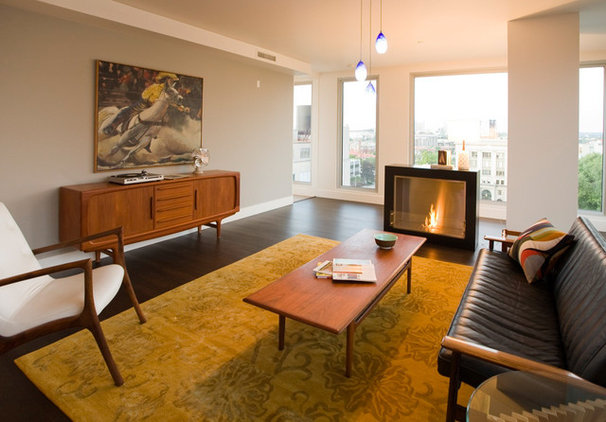 Midcentury Living Room by Amy Troute Inspired Interior Design