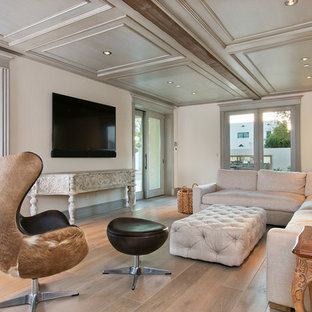 Living Room Large Contemporary Formal And Enclosed Idea In San Go With White
