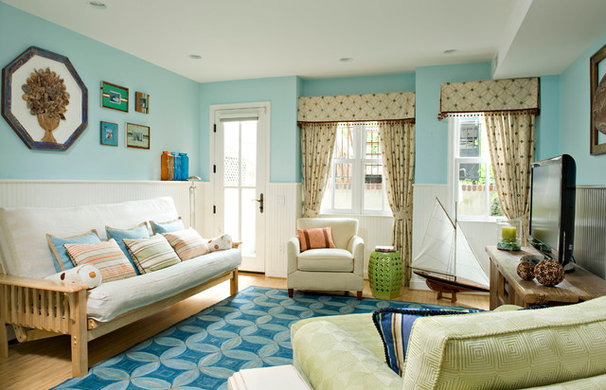 Eclectic Living Room by Margo Downing Interiors