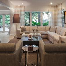 Contemporary Living Room by Shuster Design Associates