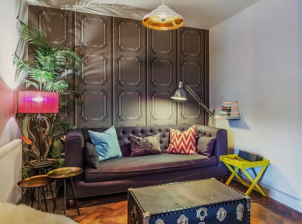Eclectic Living Room by The Couture Rooms
