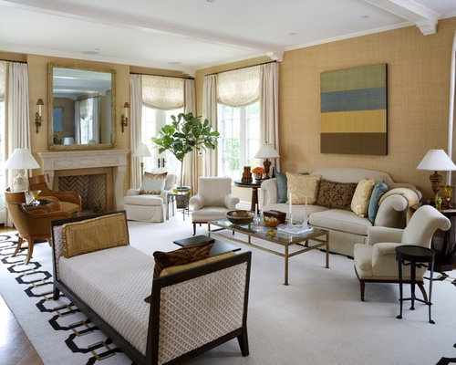 Multiple seating areas houzz for Living room 2 seating areas