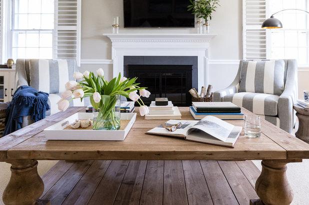 Transitional Living Room By Larina Kase Interior Design