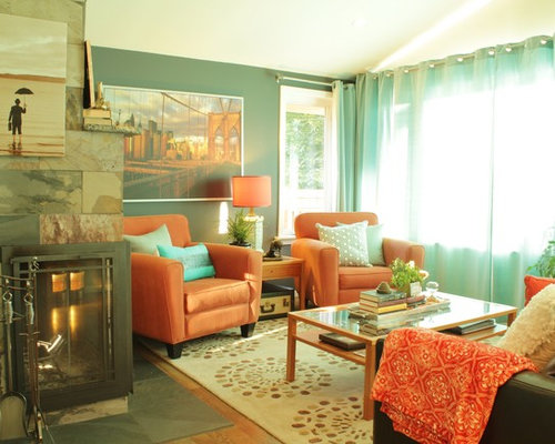 Arts and crafts green living room design ideas for Arts and crafts living room ideas