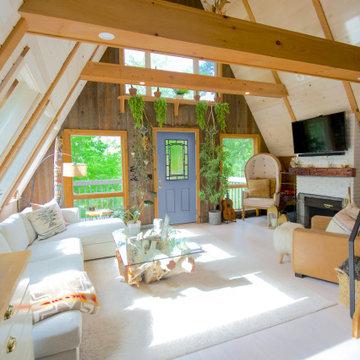 A-Frame Home Cabin Ideas - Front Door