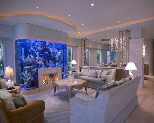 Built in fish tank houzz for Built in fish tank