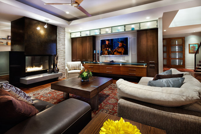 Contemporary Living Room by CG&S Design-Build