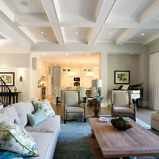 Transitional Living Room by Norwood Architects
