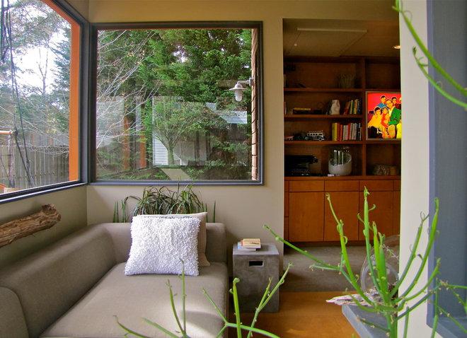 Rustic Living Room A Man Cave That's More Bauhaus Than Bedrock