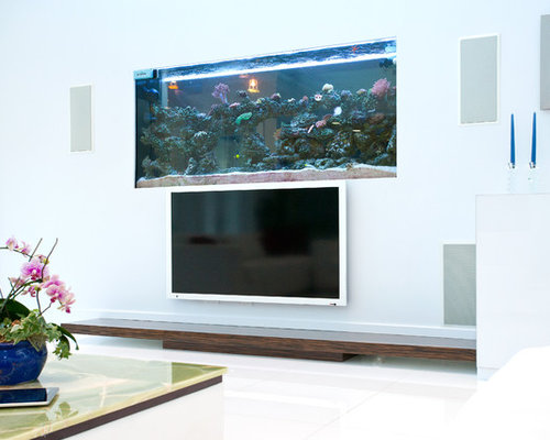 Built Ins With Tv And Fish Tank Ideas Pictures Remodel And Decor