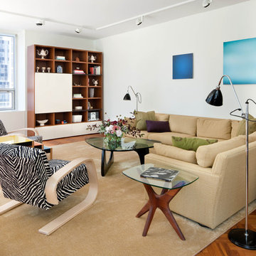 A mix of old and new to create a comfortable living area