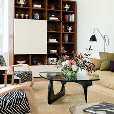 midcentury living room by Kristen Rivoli Interior Design