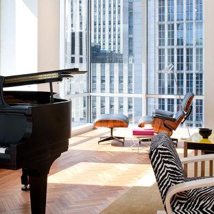 Idee per un soggiorno moderno con sala della musica