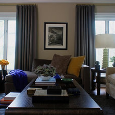 Traditional Living Room by Christopher Burns Interiors