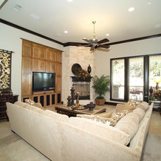 Traditional Living Room by Michael Garabedian