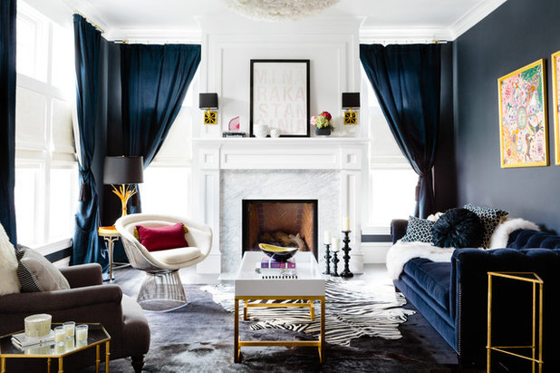 Transitional Living Room by Joyelle West Photography