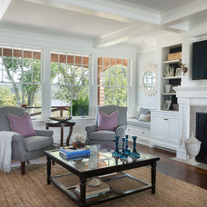 Beach Style Living Room by Taste Design Inc