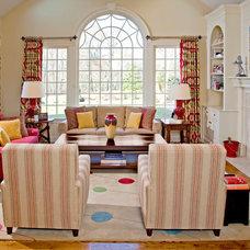 Traditional Living Room by J R Design Coordinates, LLC