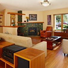 Craftsman Family Room by Meadowlark Builders