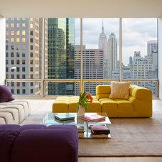Modern Living Room by James Wagman Architect, LLC