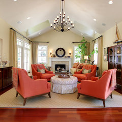 traditional living room by Stephanie Wiley Photography