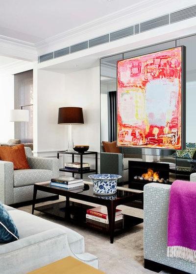 Contemporary Living Room by archer design