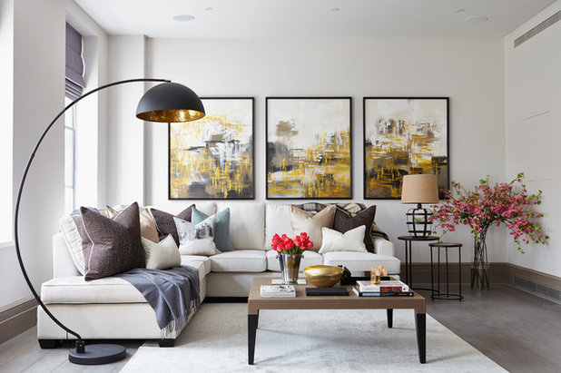 Contemporary Living Room by Kristy Noble Photography