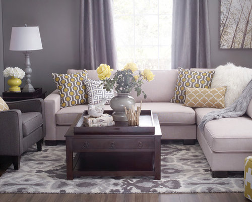 Gray And Yellow Living Room Ideas, Pictures, Remodel and Decor