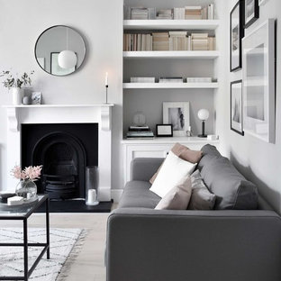 A soft, minimalist lounge makeover