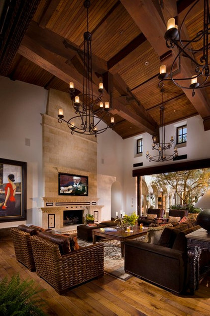 Mediterranean Living Room by South Coast Architects, Inc.