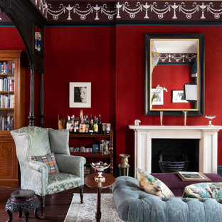 Design ideas for a large victorian living room in London.