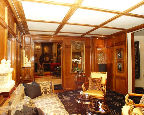 Example Of A Mid Sized Classic Formal And Enclosed Carpeted Living Room  Design In Los