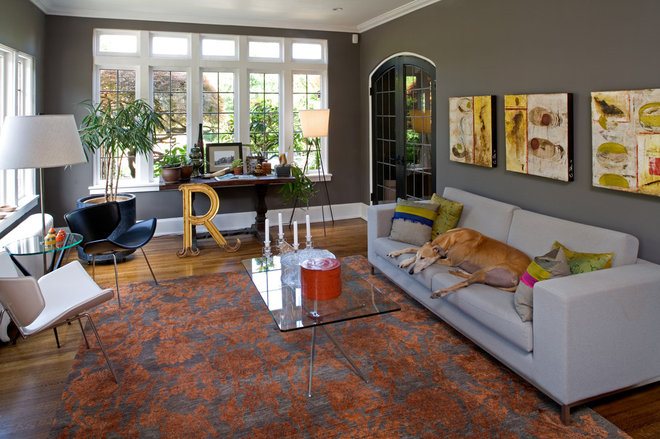 Eclectic Living Room by Gelotte Hommas Architecture